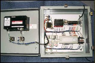 Control box with PanelView and MicroLogix